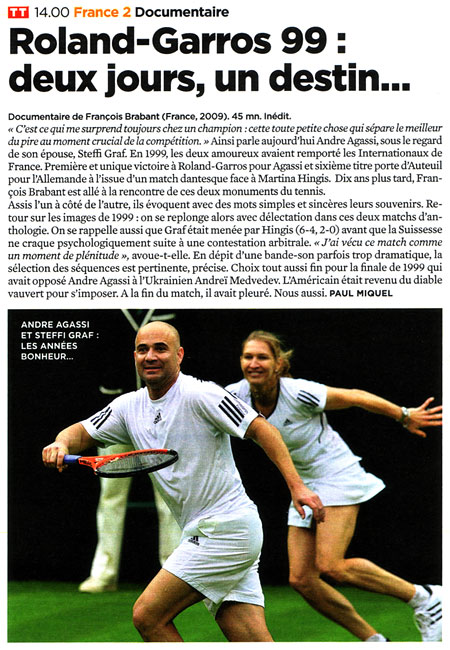 Le documentaire de France 2 sur Agassi et Graf